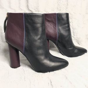 Cabi Bisset Two Tone Leather Block Heel Ankle Boot